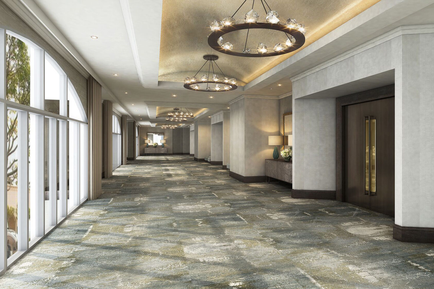 Phase two of the renovation consists of the resort's meeting space, including two ballrooms, the ballrooms' foyers, meeting rooms and the public restrooms nearby.