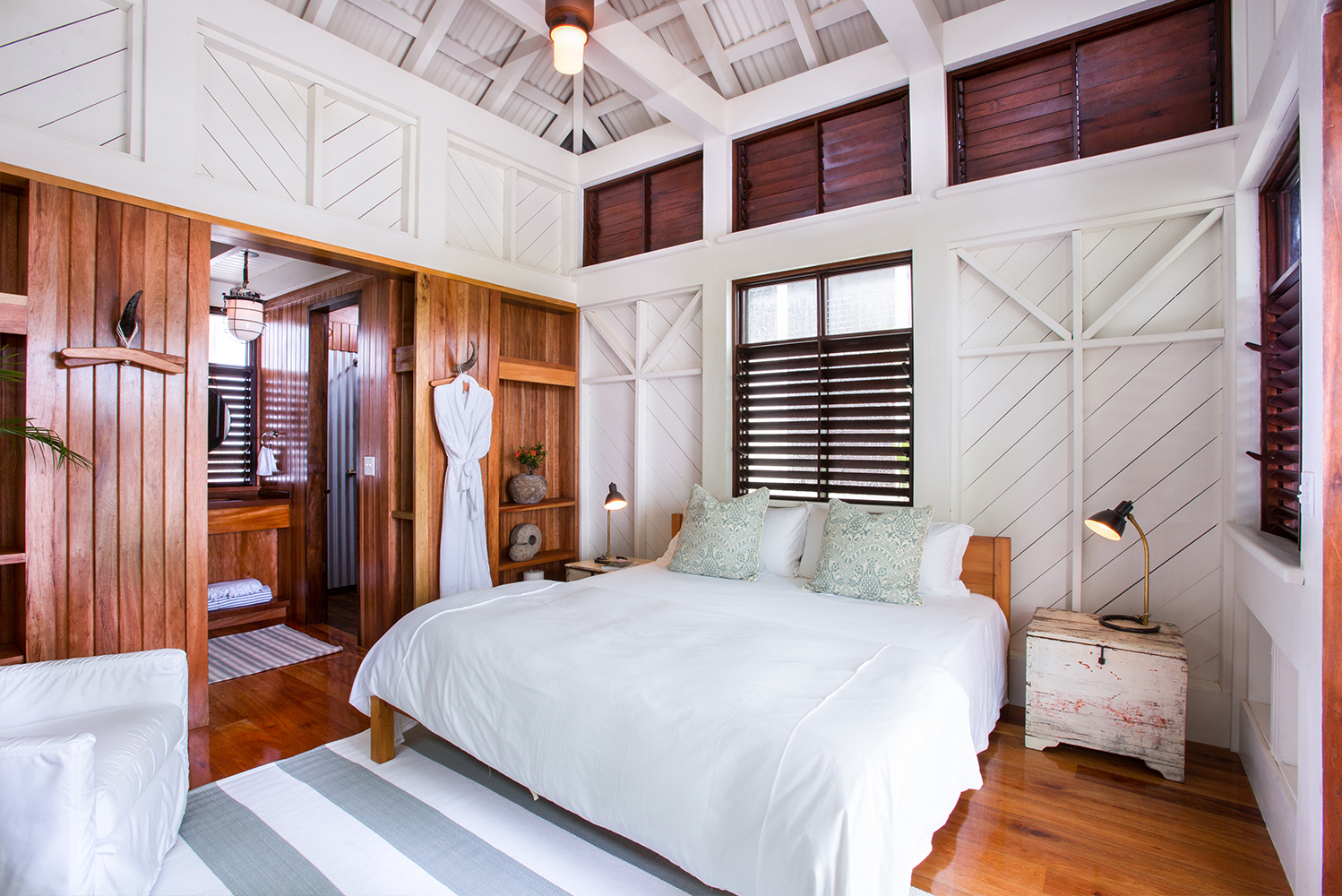 Mahogany Bay Resort & Beach Club has 205 cottages and villa-style rooms.