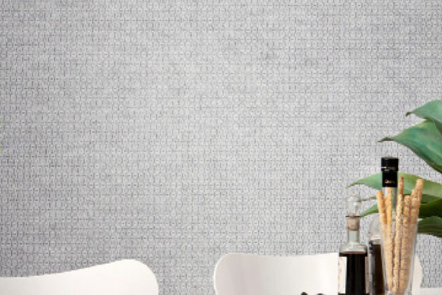 Mura is available in bold, geometric prints, as well as patterns that give the appearance of a three-dimensional textured surface,
