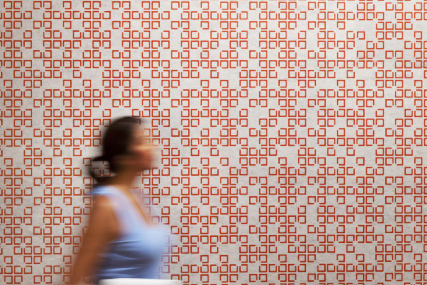 Mura is a wallcovering series made of 60% recycled PET that absorbs sound and adds dynamic design to flat surfaces.