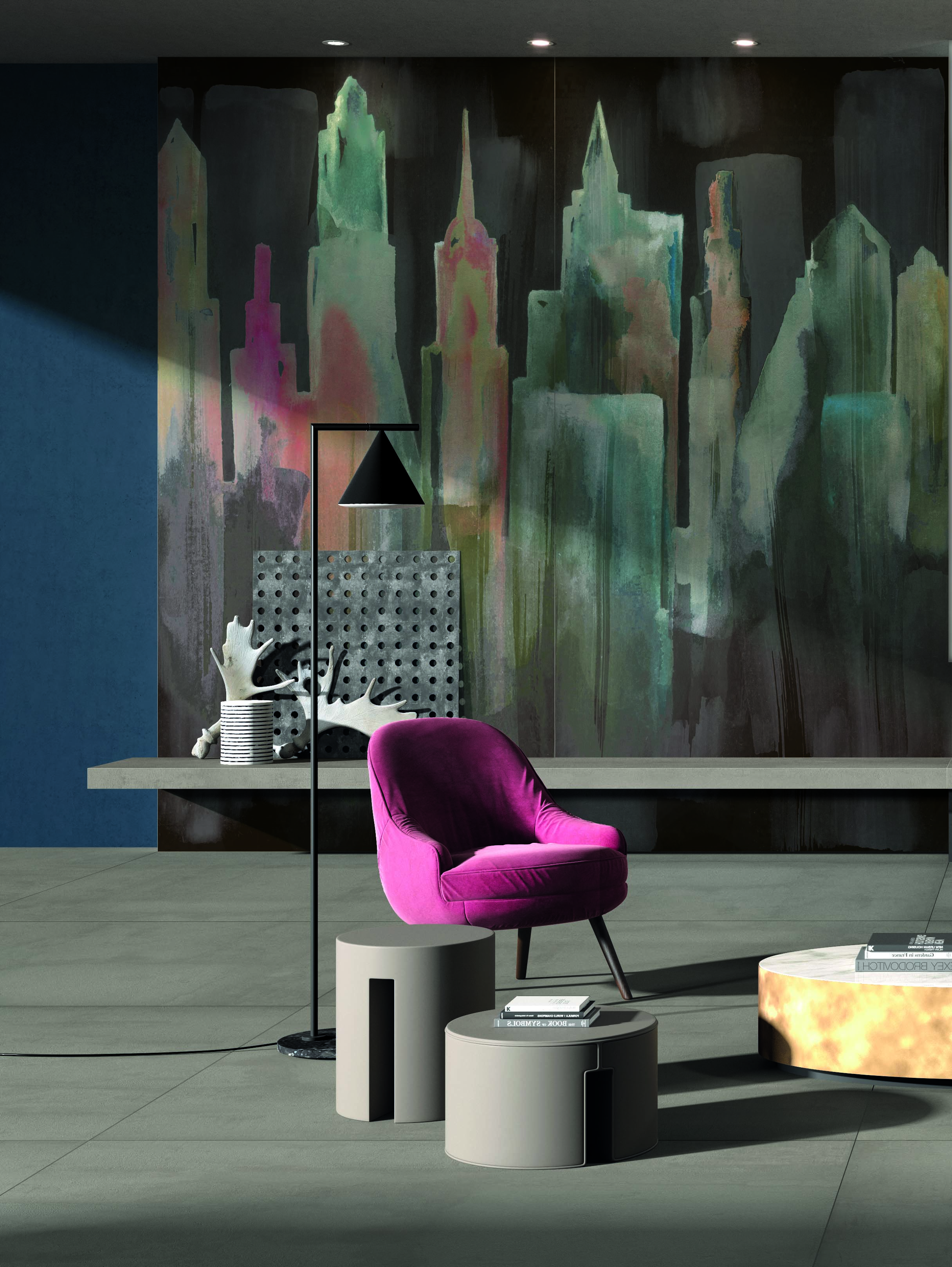 "ABK's Wide and Style collection also demonstrates the ""painterly"" effect."