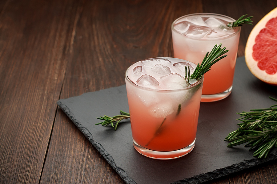Grapefruit rosemary gin