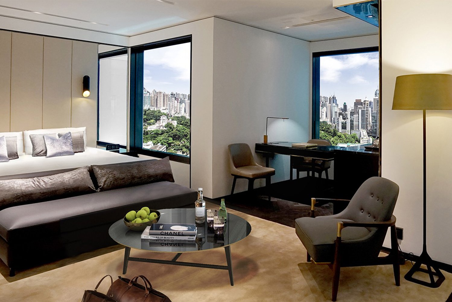 The Murray, Hong Kong, a Niccolo Hotel opened on Cotton Tree Drive in Central, near the Bank of China Tower, the American embassy and Hong Kong Park.