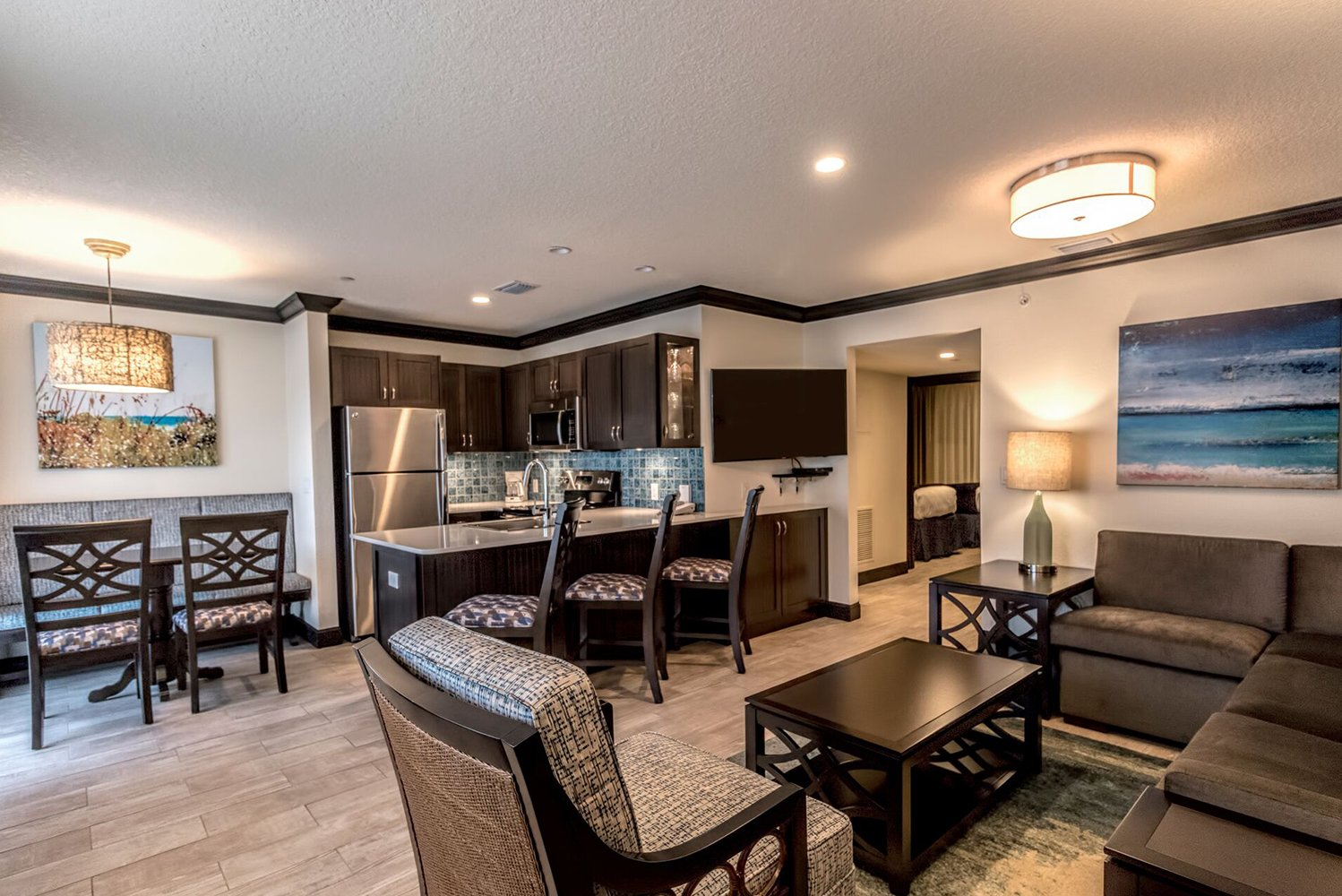 All the suites will be rebuilt from floor-to-ceiling with a modern design and high-end touches, such as stainless-steel appliances and wood finishes.