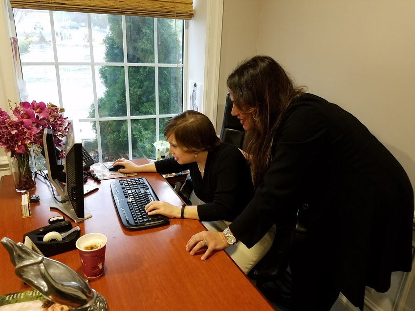 Nelsey Payano-Diaz, director of social sales, showed me how she handles bookings.