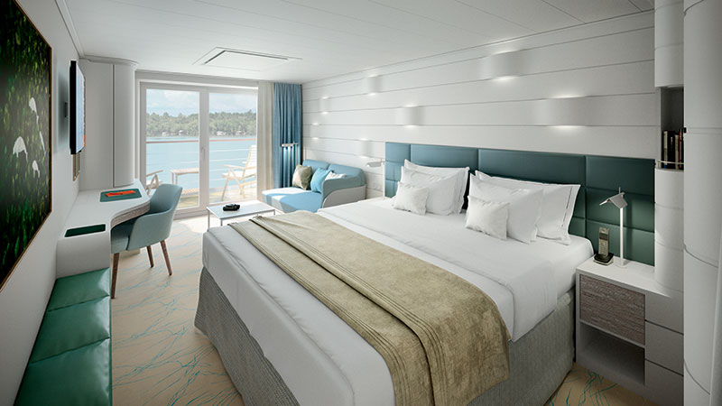 "The new ships will have ""mostly balcony cabins and suites"" // Photo by Hapag-Lloyd Cruises"