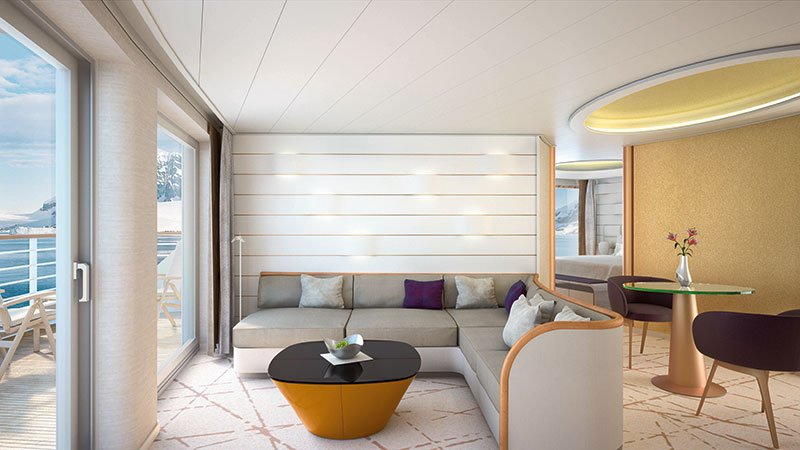 The four Grand Suites will have larger private verandahs // Photo by Hapag-Lloyd Cruises