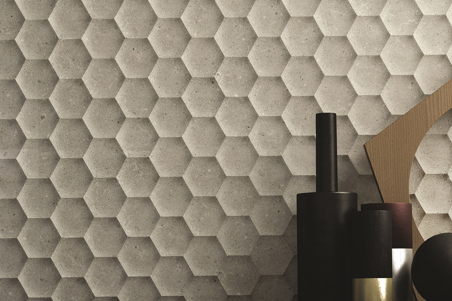 Walker Zanger recreated the look and feel of carved limestone through the new Bera & Beren collection of porcelain floor and ceramic wall tiles.