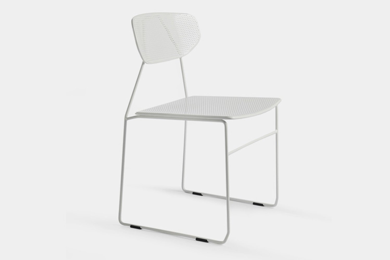 The Naked Chair is available with or without arms and in a variety of colors.