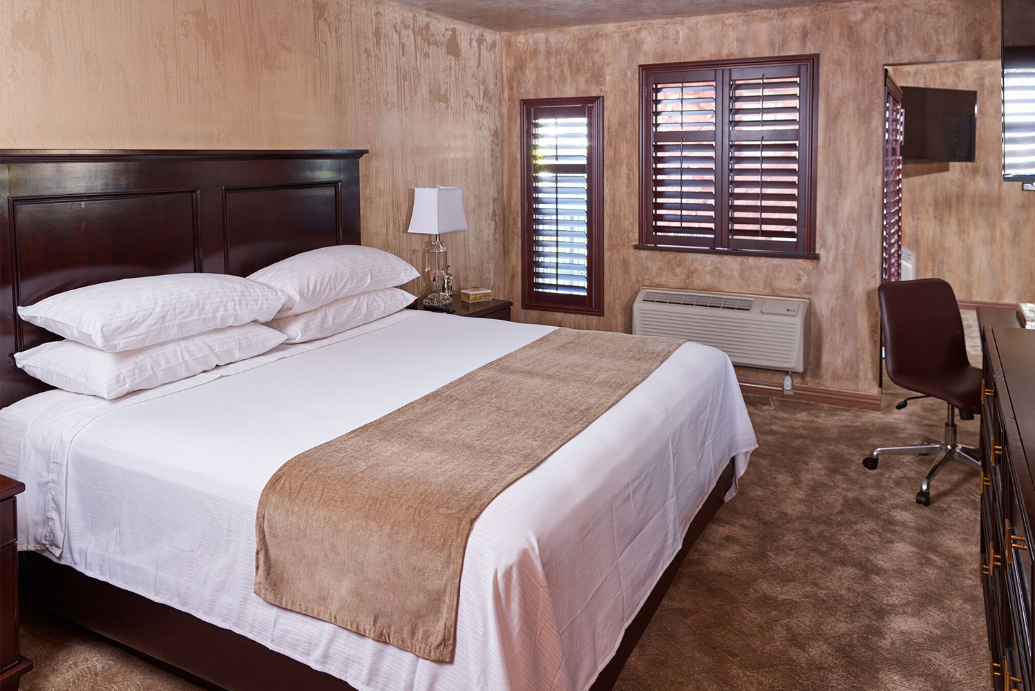 The rooms were renovated with the 21st century traveler in mind, with USB chargers added to all bedside tables and mini-refrigerators and safes included.