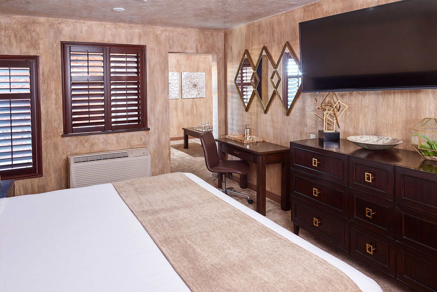 The upgraded guestrooms are part of a full-scale property renovation.