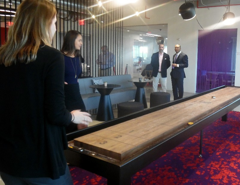 Games that relieve stress and ensure happy employees are positioned around the offices.