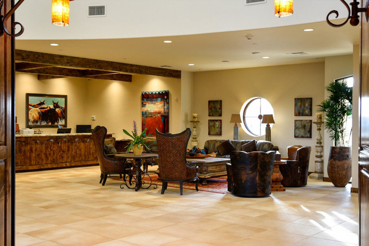 Upon arrival, guests are welcomed by Spanish Hacienda style architecture that pays homage to California's heritage.