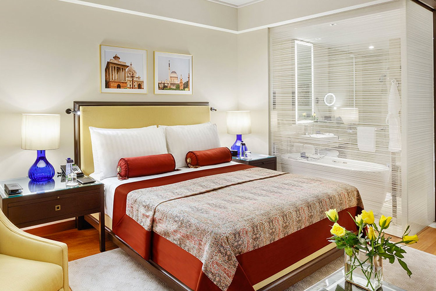 The hotel now has 220 larger rooms and suites, from 283 rooms in the past, all of them inspired by Lutyens' New Delhi design.
