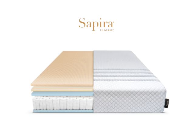 Leesa's hybrid Sapira mattress uses different layers of foam and springs.