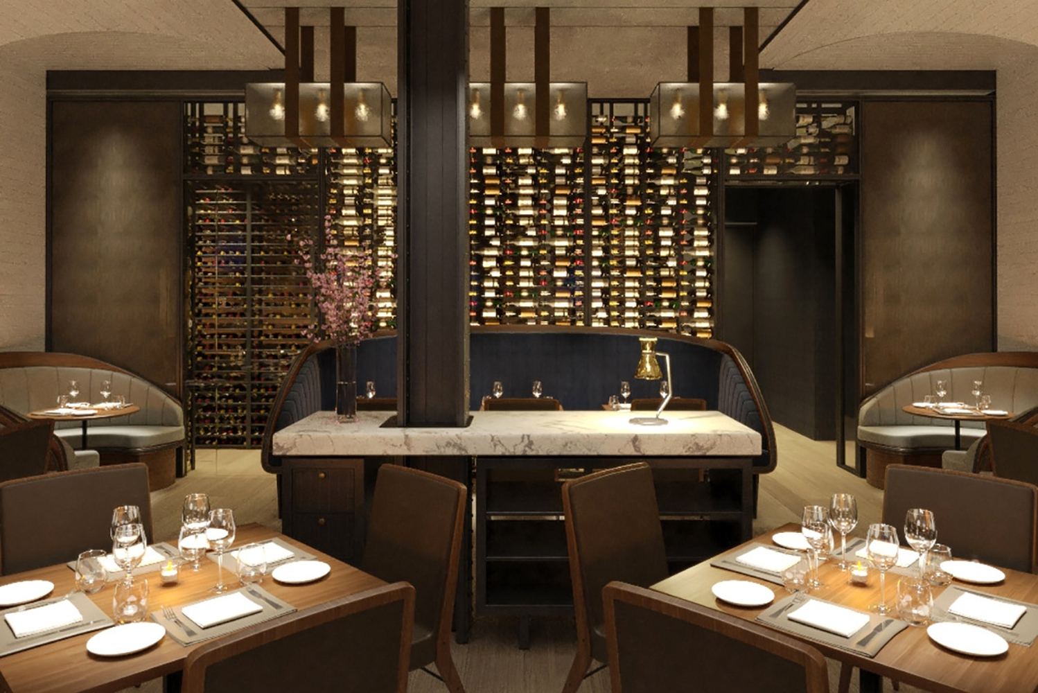 Scarpetta restaurant – which was first opened in New York's Meatpacking District – has a bar and café.