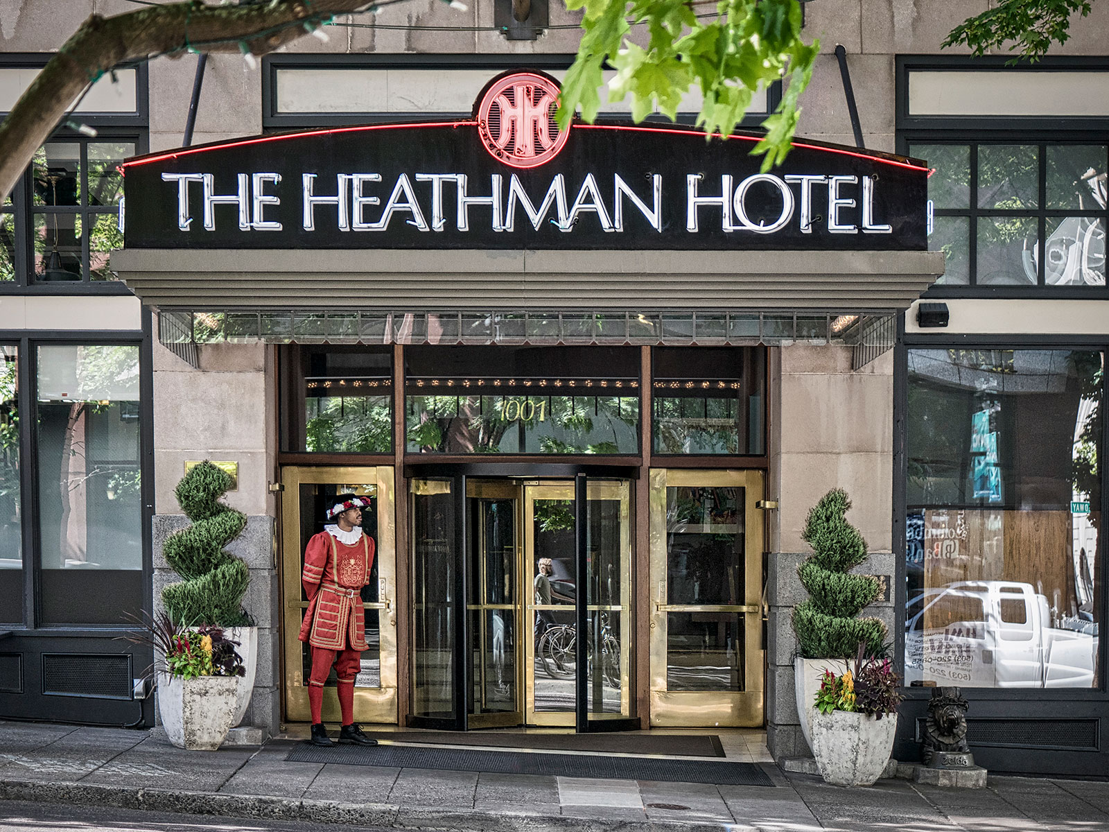The renovation of the historic Heathman Hotel is slated for completion in June.