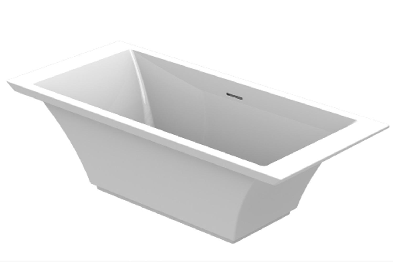 Graff's freestanding Finezza bathtub is available in gloss Sleek-Stone or matte Sleek-Stone finishes.