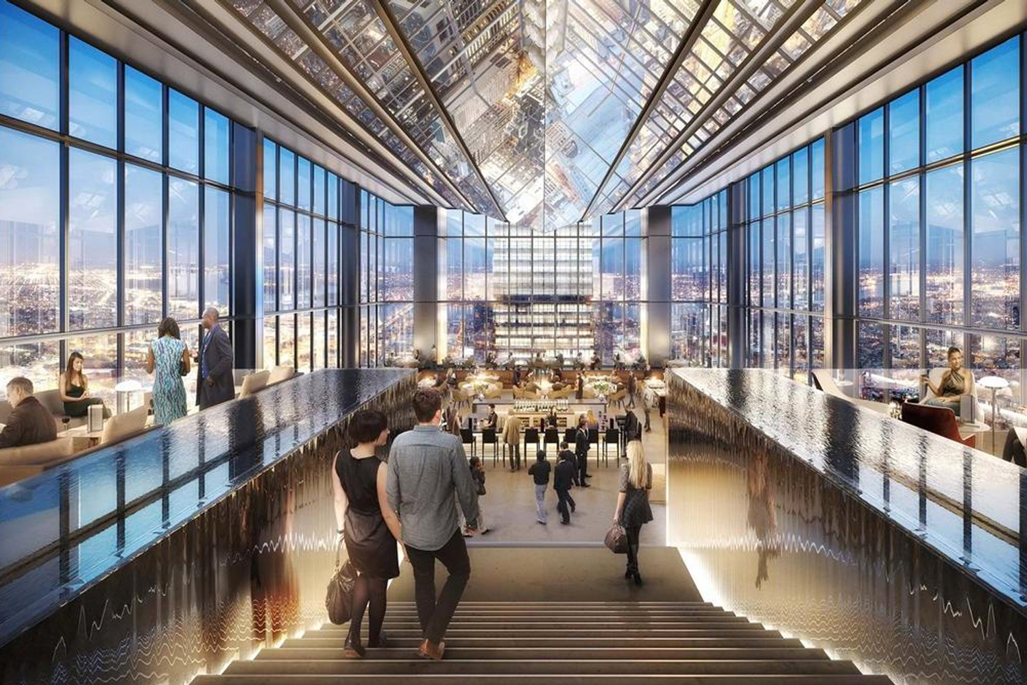 The new Four Seasons Hotel Philadelphia at Comcast Center will have 219 bedrooms on the 48th to 56th floors.