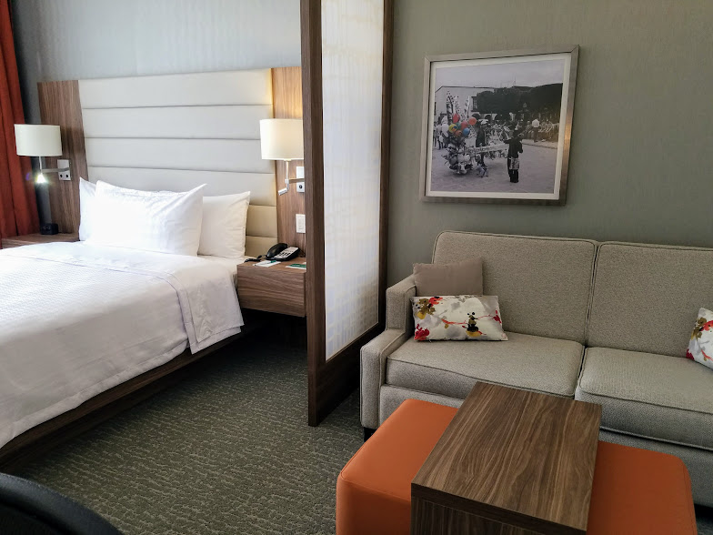 Standard guestrooms are slightly smaller than their northern counterparts, but can sleep four people.