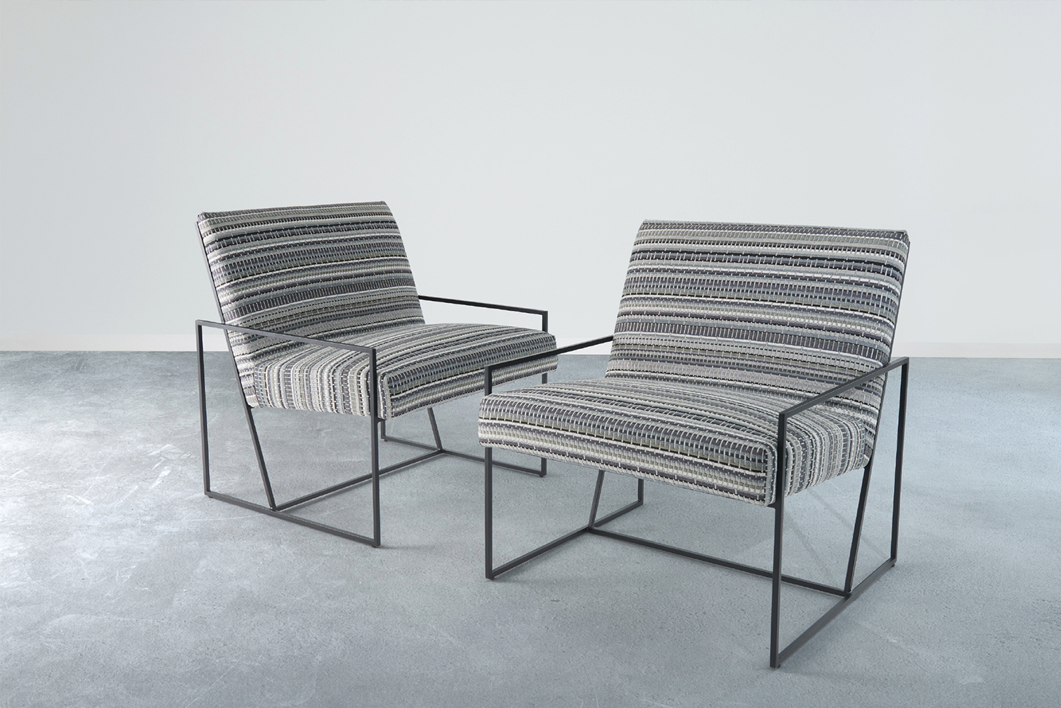 The upholstery collection takes queues from trending finishes/patterns such as metallics, stripes and florals.