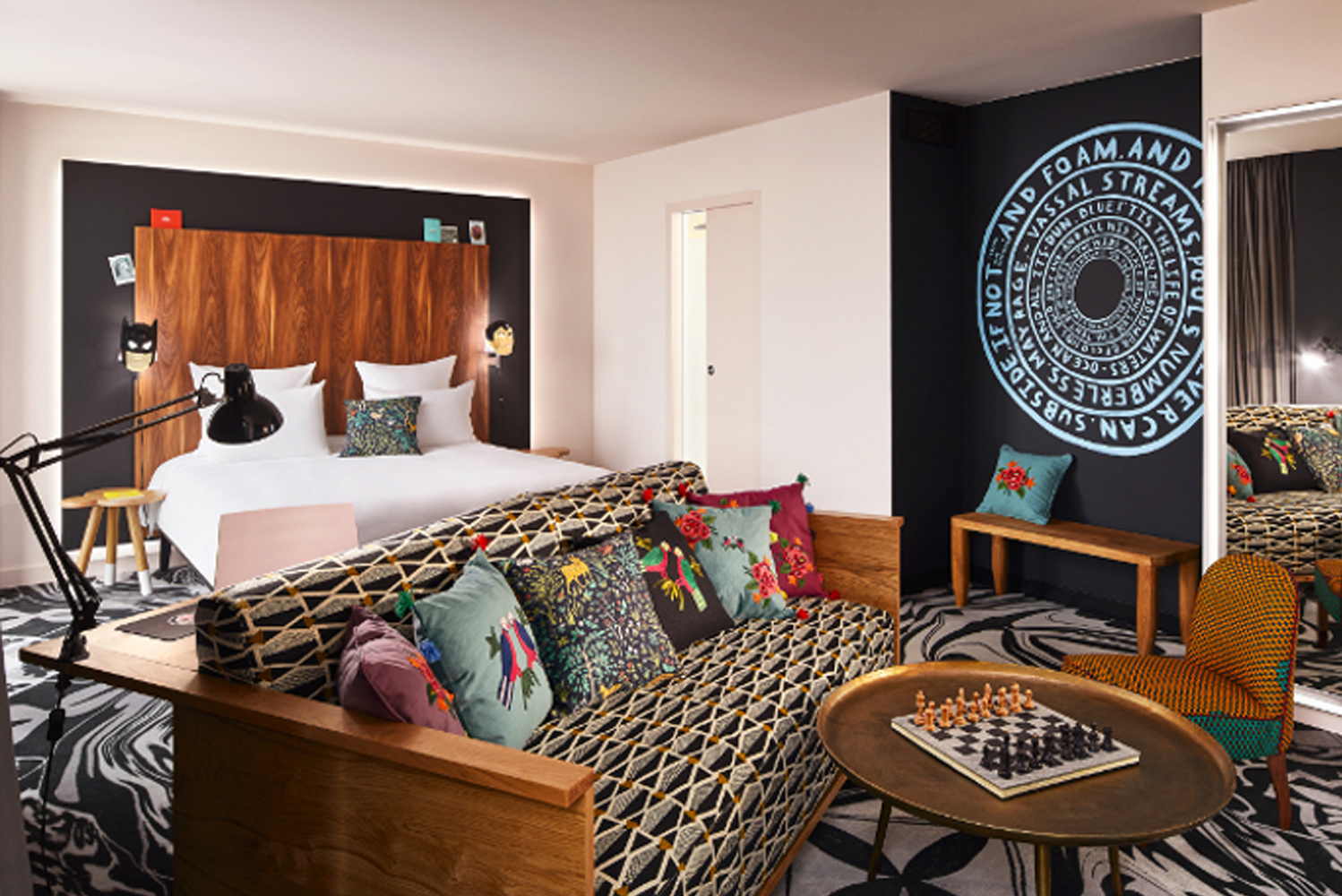 Designed by São Paulo-based designer Jalil Amor, Mama Shelter Belgrade has décor that pays tribute to the Serbian capital's Ottoman history.