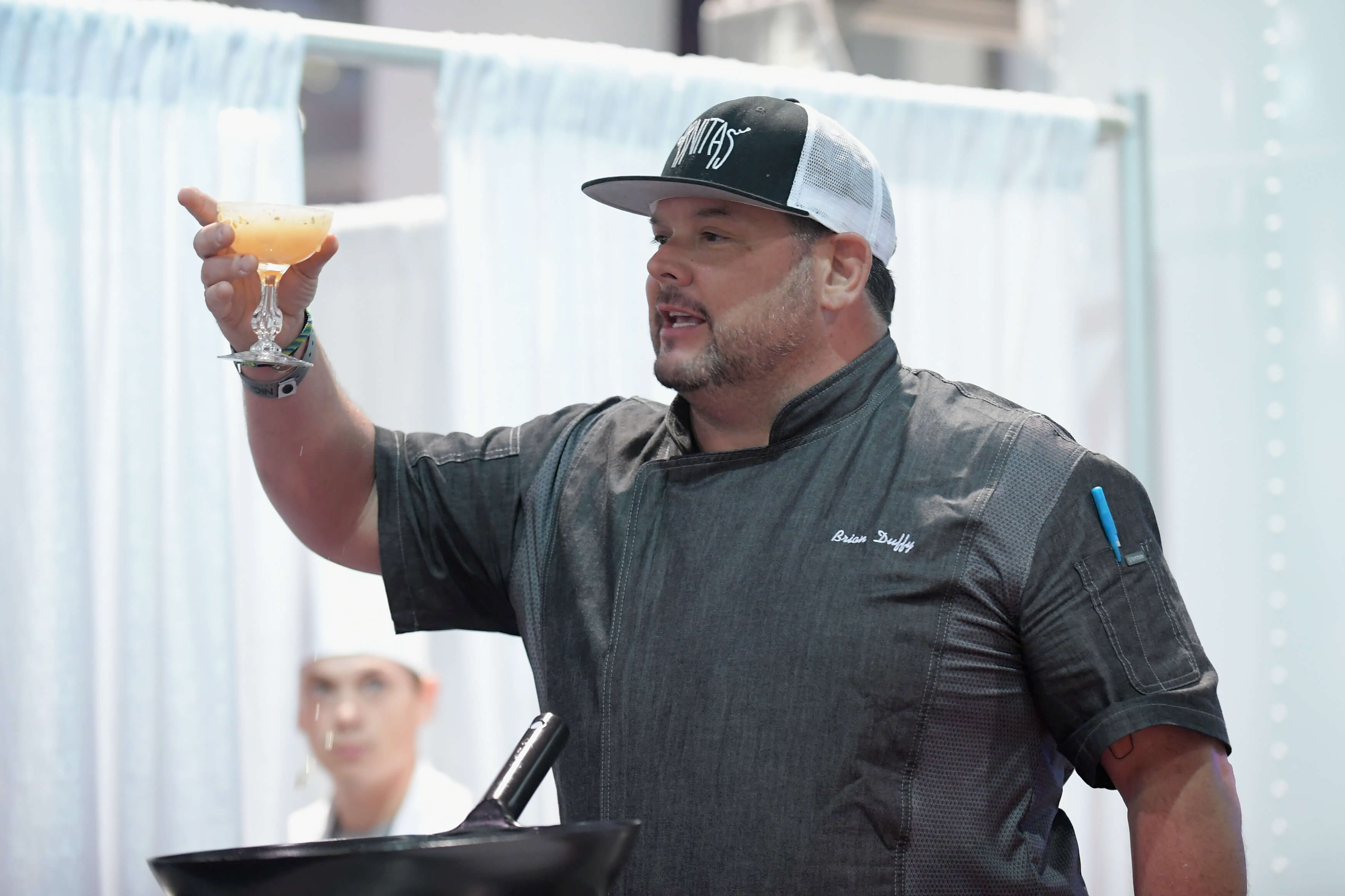"Chef Brian Duffy says, ""Cheers!"""