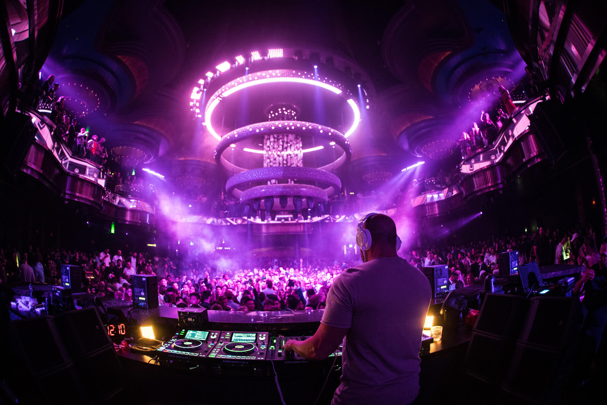 Tiësto takes the turntables at OMNIA Nightclub.