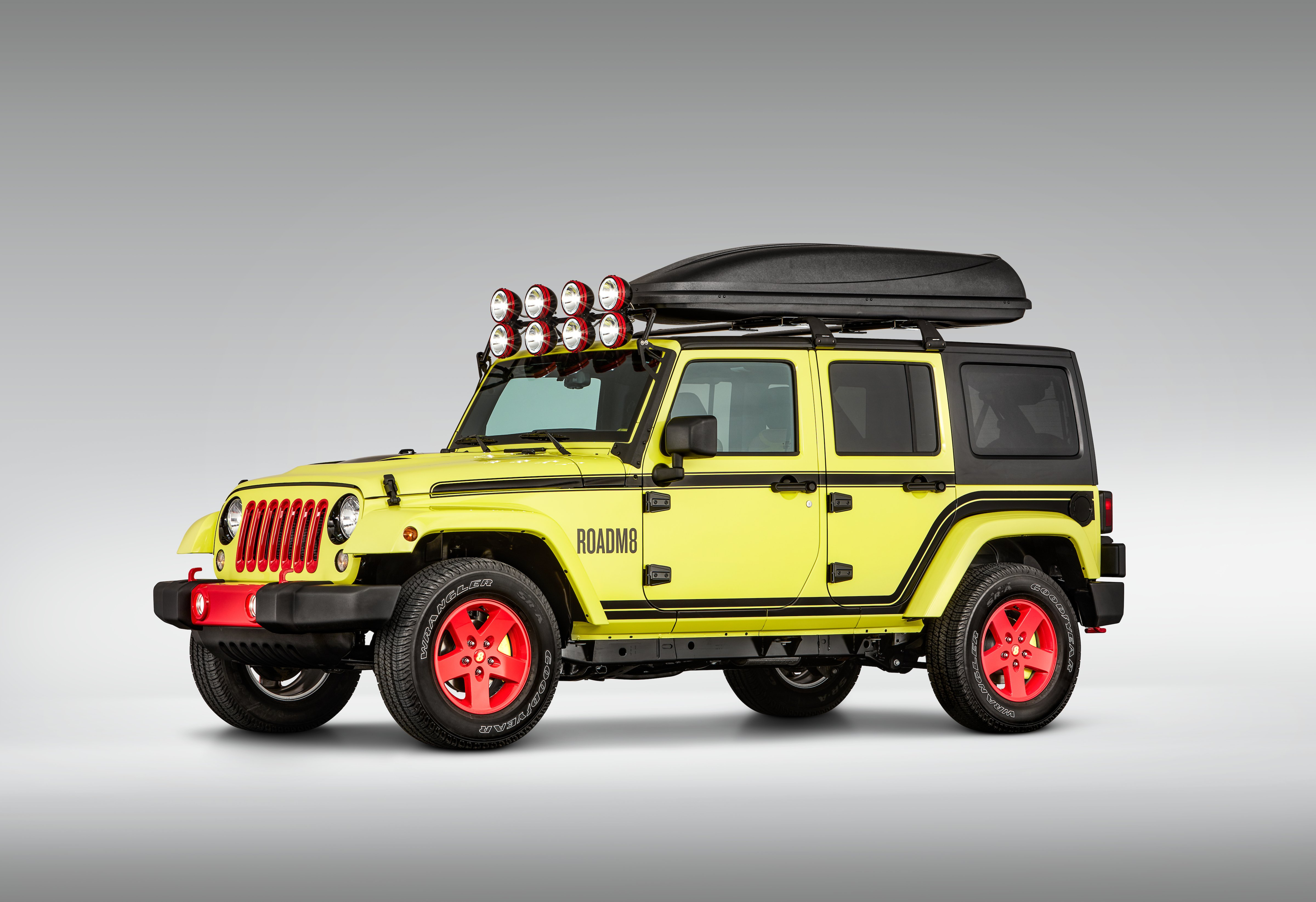 The base of ROADM8 was built from a 2017 Jeep Wrangler
