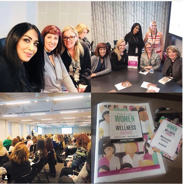The Babor team takes Women in Wellness (photo via @maryambabor on Instagram)