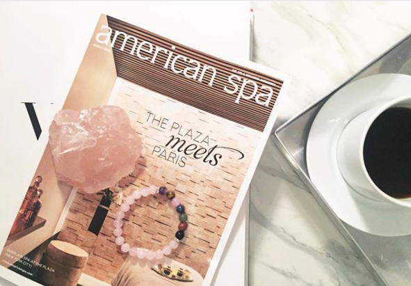 The March issue of American Spa with some goodies from the conference (photo via Paulina Kajanek/@paulinakajanek on Instagram)