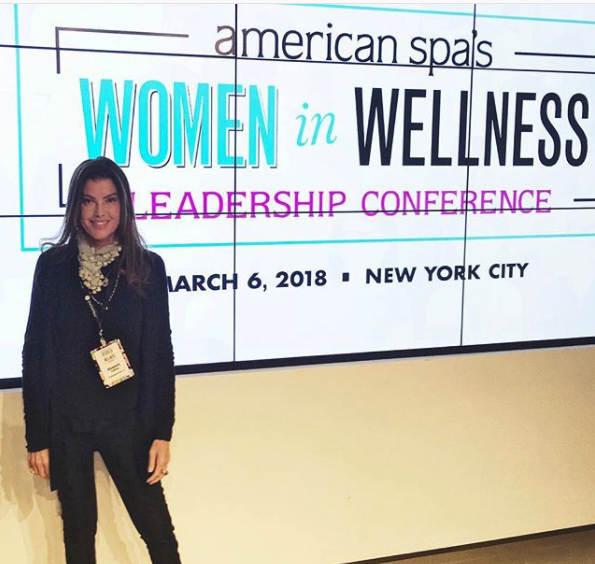 Dr. Elizabeth Trattner at American Spa's Women in Wellness Leadership Conference (photo via Elizabeth Trattner/@dreliztratts on Instagram)