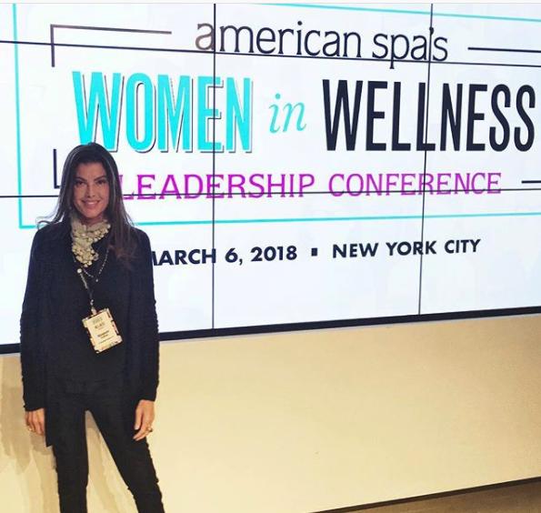 Dr. Elizabeth Trattner at American Spa's Women in Wellness Leadership Conference (photo via Elizabeth Trattner/@dreliztratts on Instagram)