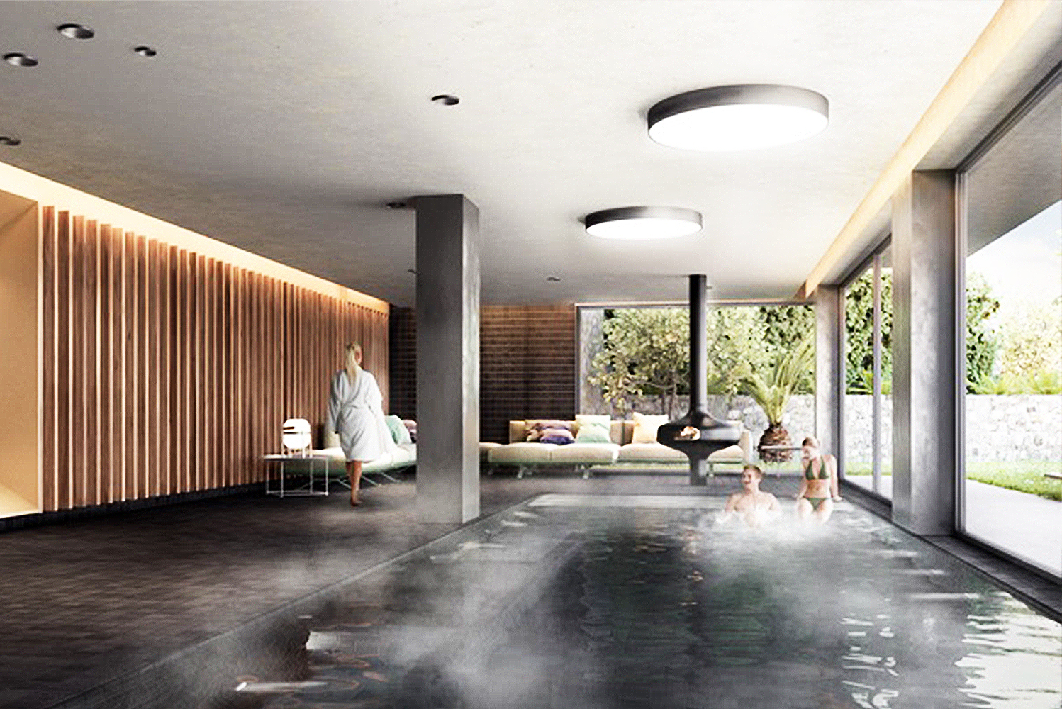 Designed by Forteza + Aparicio Interiores, the new spa will have contemporary design elements in wood and stone.
