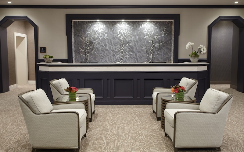 The reception area of The Spa at The Lodge at Woodloch