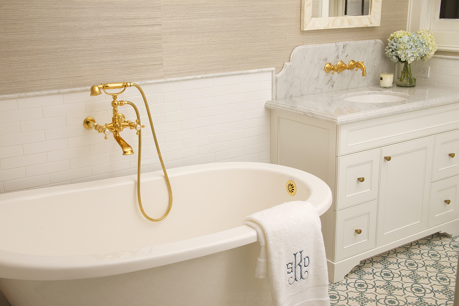 Newport Brass launched the Victoria lavatory faucet and Chesterfield tub filler.