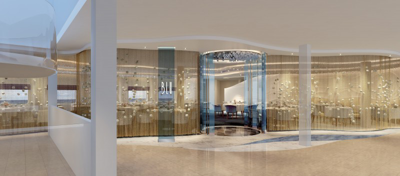 The spa-like Blu restaurant will be available to AquaClass guests