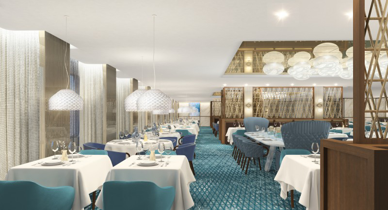 The Cyprus main dining venue is a nod to the cruise line's Greek heritage