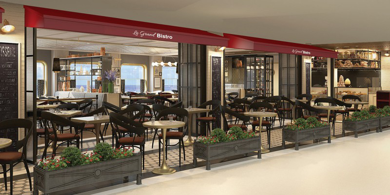 The French Le Grand Bistro will host a special high-tech experience at night