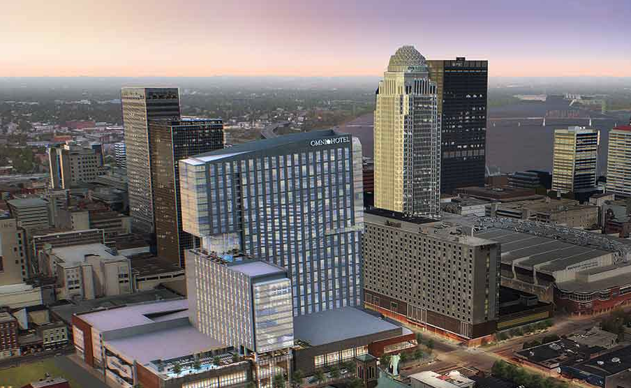 The 30-story Omni Louisville Hotel has officially opened after two years of construction.