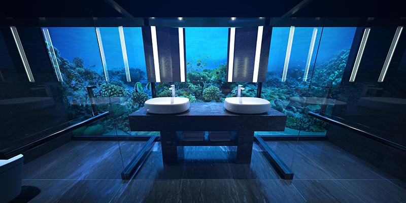 The Muraka undersea bathroom