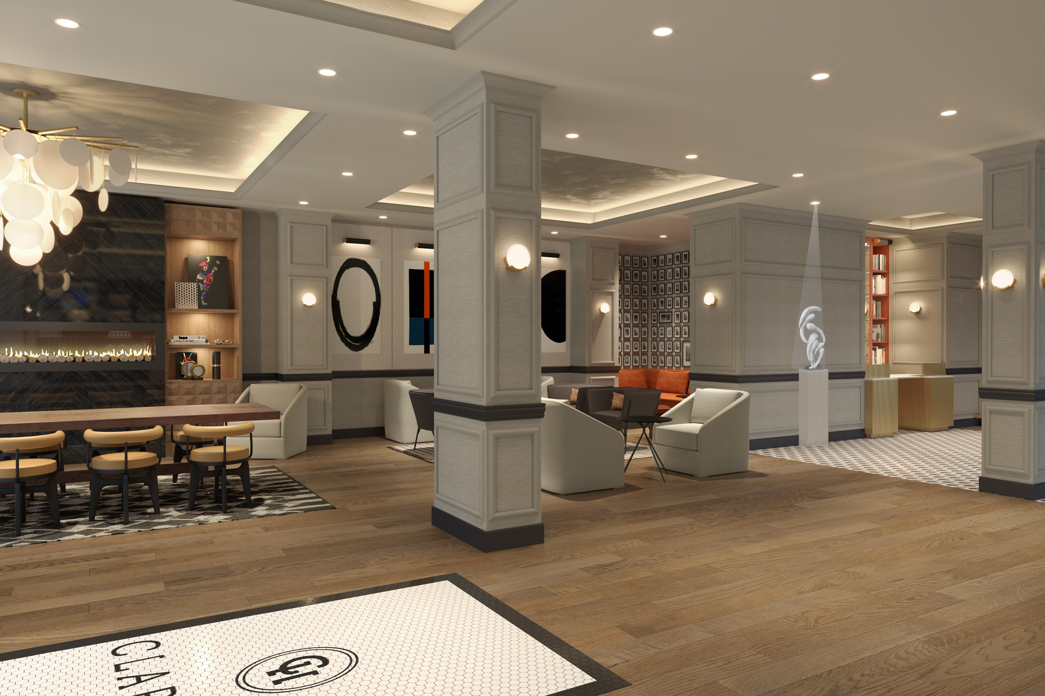 Gettys group turns historic hotel indigo chicago downtown for Design hotel jena