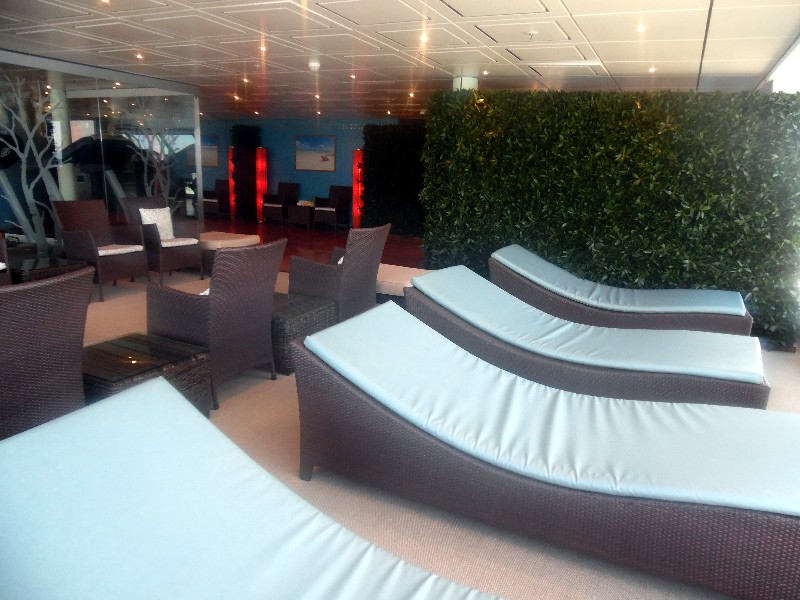 Loungers in the spa relaxation area