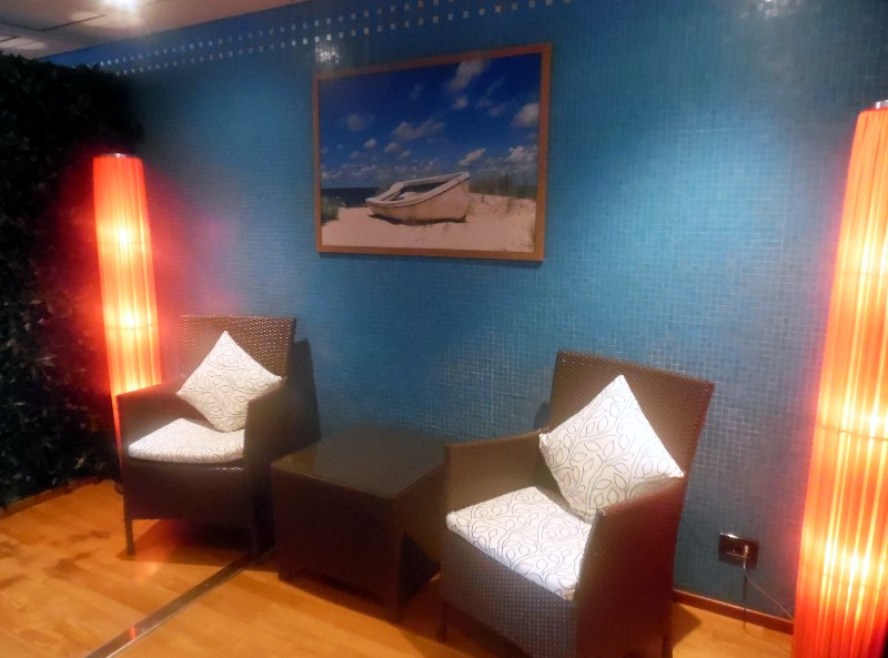 Grand Classica Spa waiting/relaxation area