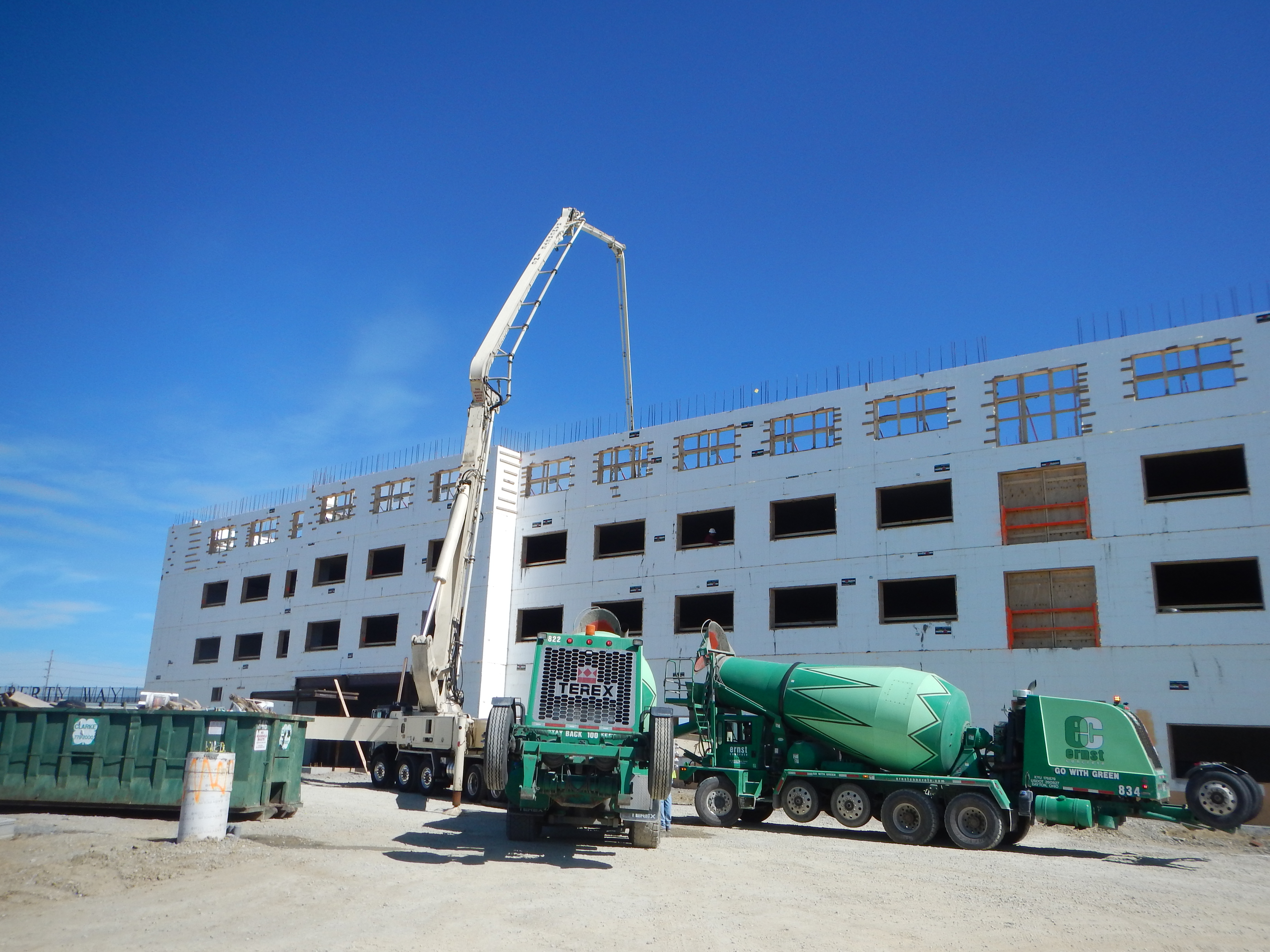 HiFive Construction used ICF construction to build this Holiday Inn Express.