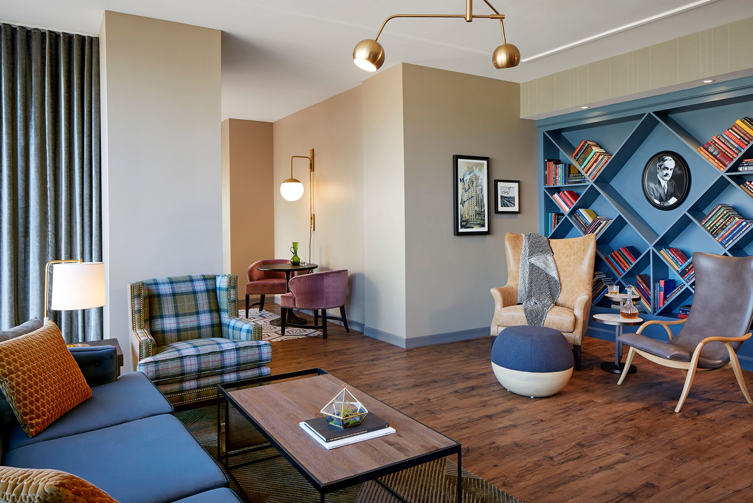 The rooms give nods to baseball and the surrounding neighborhood.
