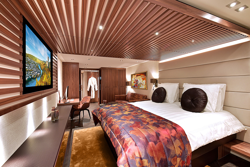 One of the ship's staterooms