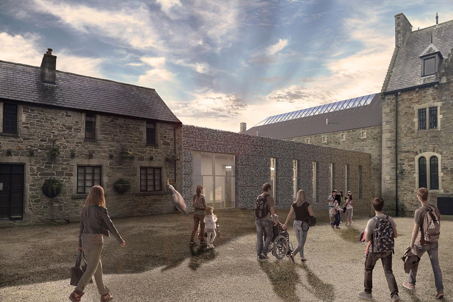 """As part of the renovation work, there will be a new 1,200-square-meter (12,917-square-foot) building housing an attraction called """"Dark Walk""""."""