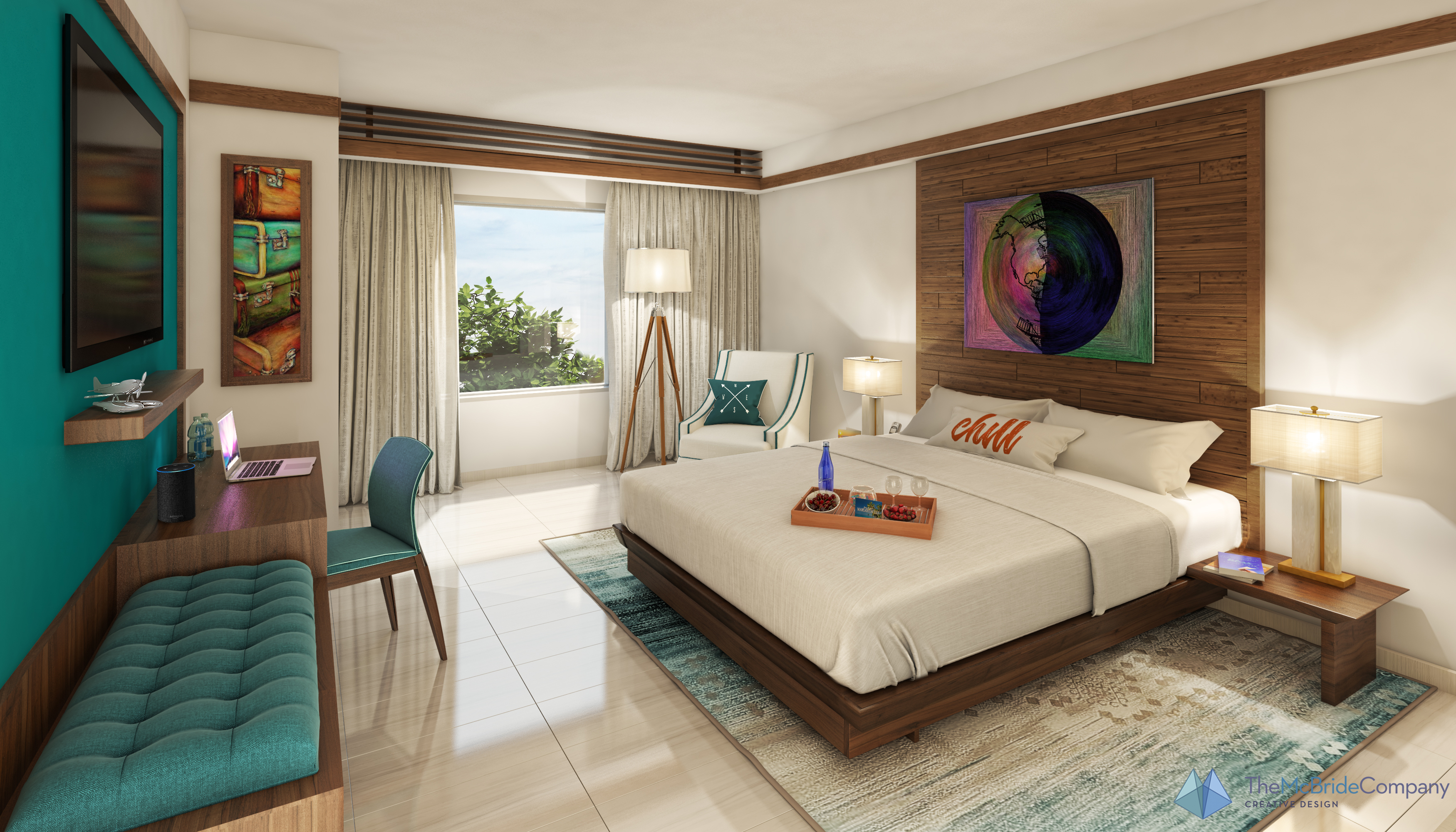 The guestrooms will have familiar elements from larger-scale Margaritaville resorts, including the same bedding.