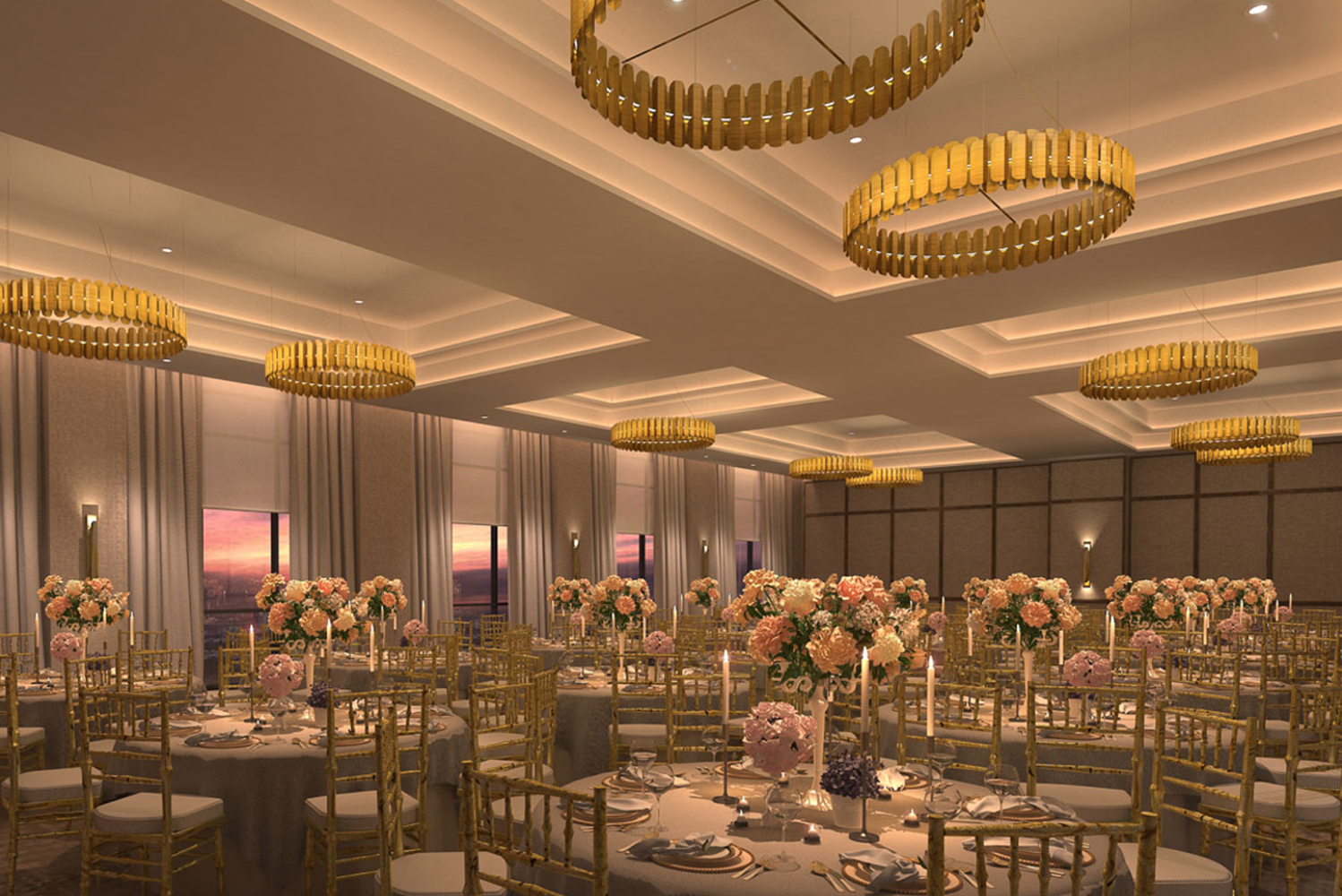 For events, the property will have 9,000 square feet of indoor event space across the fourth and fifth floors.